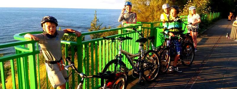 Obóz rowerowy na morzem